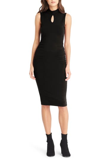 Michael Stars Keyhole Body-Con Dress, Black