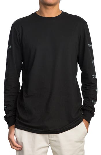 Rvca Brand Stack Graphic T-Shirt, Black
