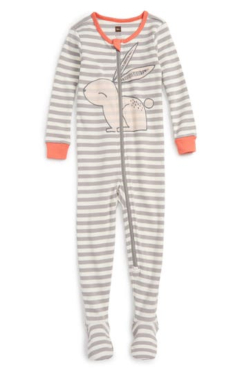 Infant Girl's Tea Collection Rabaid Fitted One-Piece Pajamas