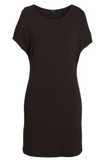 Women's Soprano Cold Shoulder Shift Dress, Size X-Small - Black