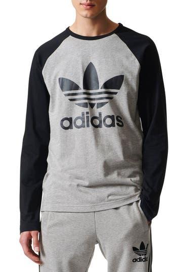 Adidas Logo Graphic T-Shirt, Grey