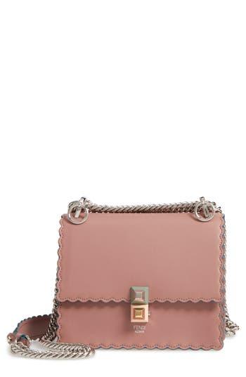 Fendi Small Kan I Scallop Leather Shoulder Bag -