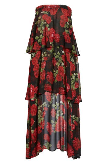 Show Me Your Mumu Karla Convertible Strapless Dress, Red