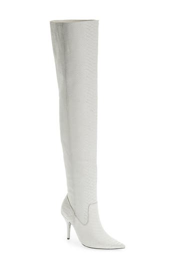 Jeffrey Campbell Galactic Thigh High Boot- White