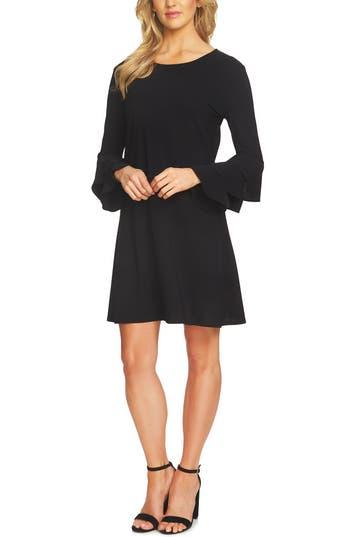Cece Ruffle Sleeve Dress, Black