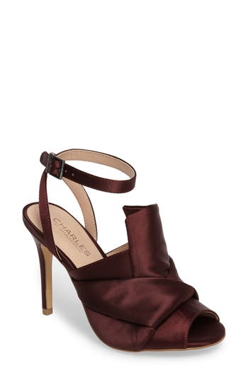 Charles By Charles David Rachel Ankle Strap Sandal- Purple