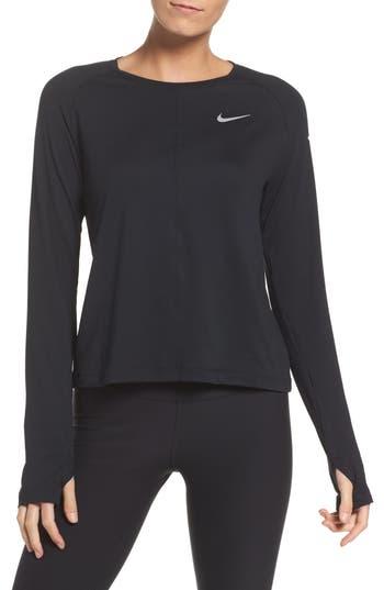 Nike Dry Element Crop Top, Black
