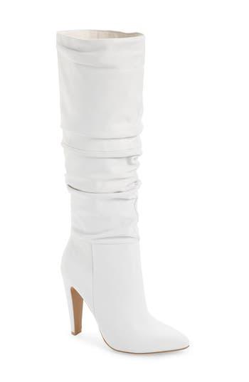 Steve Madden Carrie Slouchy Boot- White