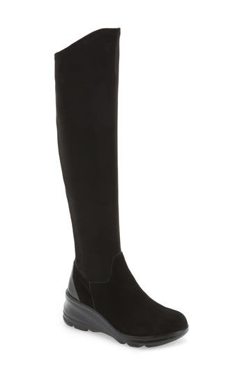 Jambu Kendra Over The Knee Water-Resistant Boot, Black