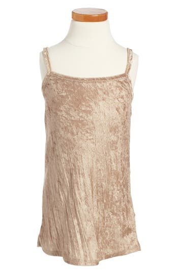 Girl's Beru Fiona Slipdress, Size 5-6 - Metallic