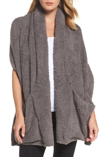 Women's Barefoot Dreams Cozychic Travel Shawl, Size One Size - Grey (Online Only)