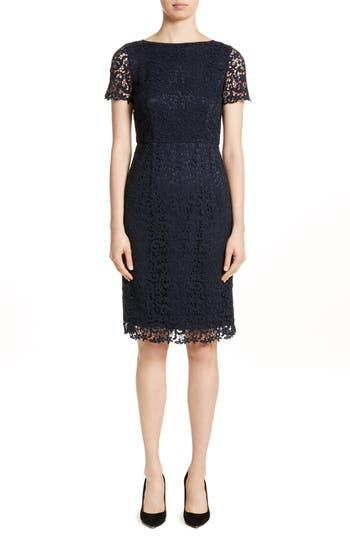 Lafayette 148 New York Marquis Lace Dress, Blue