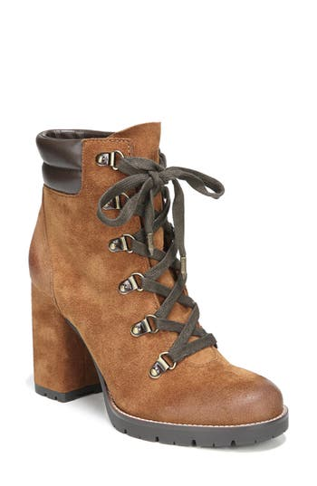 Sam Edelman Carolena Lace-Up Boot- Brown