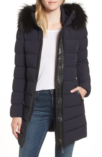 Women's Mackage Calla Genuine Fox Fur Trim Hooded Down Coat