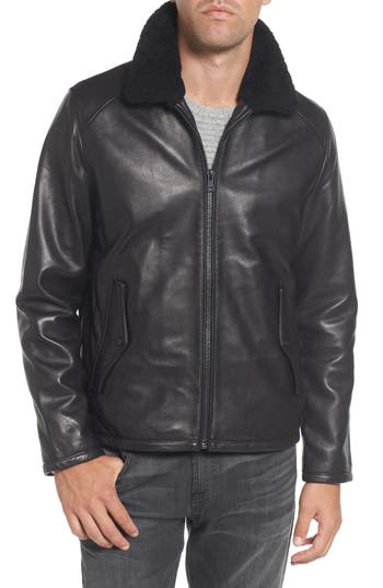 Men's Vince Camuto Genuine Shearling Leather Jacket