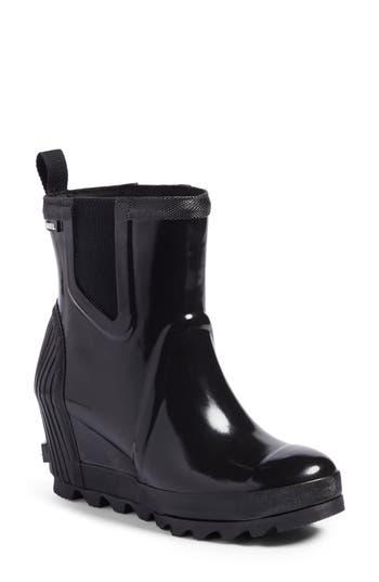 Sorel Joan Of Arctic(TM) Wedge Chelsea Rain Boot, Black