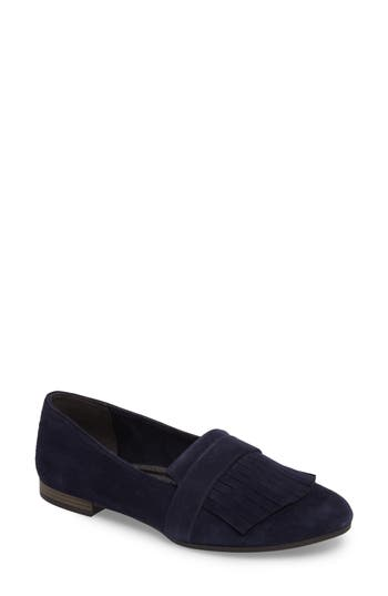 Tamaris Alena Fringe Loafer, Blue