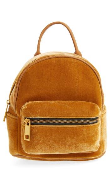 Street Level Velvet Backpack - Yellow