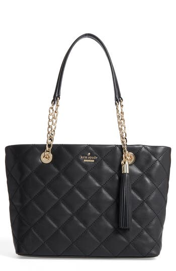 Kate Spade New York Small Emerson Place - Priya Quilted Leather Tote - Black