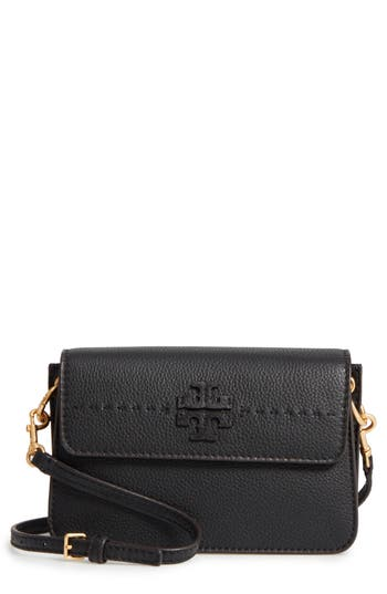 Tory Burch Mcgraw Leather Shoulder Bag - Black