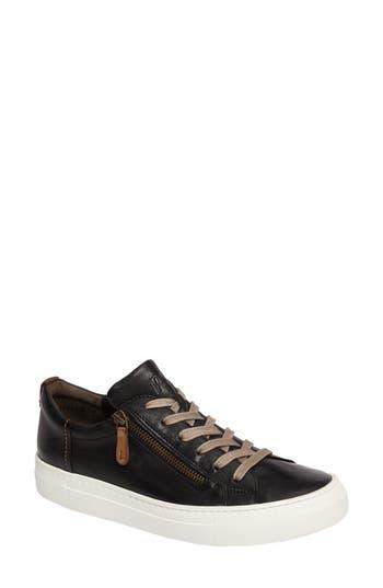 Paul Green Side Zip Sneaker - Black