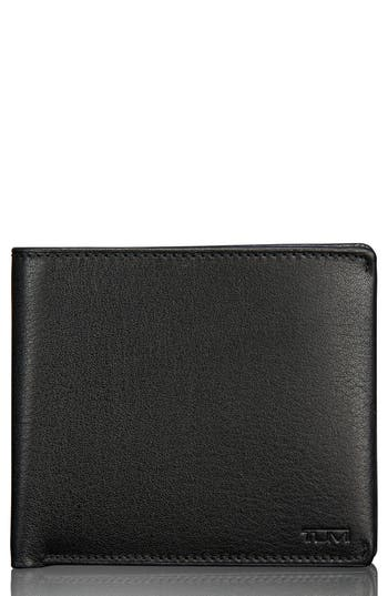 Men's Tumi Global Leather Passcase Wallet - Black