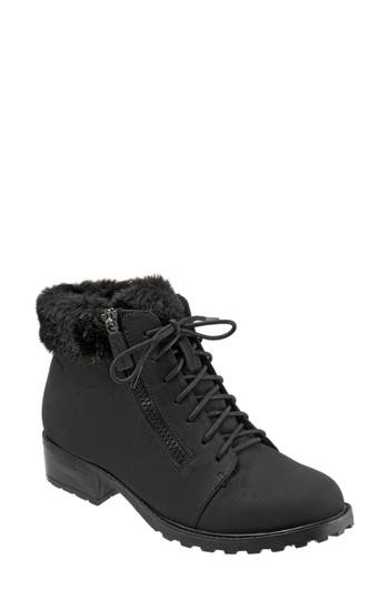 Trotters Below Zero Waterproof Winter Bootie, Black