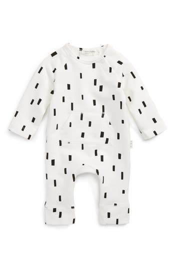 Miles Baby Girls BlockPrint Romper  Baby