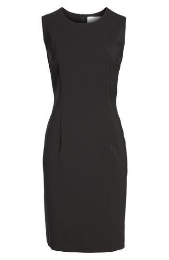 Boss Dirusa Sleeveless Stretch Wool Sheath Dress, Black