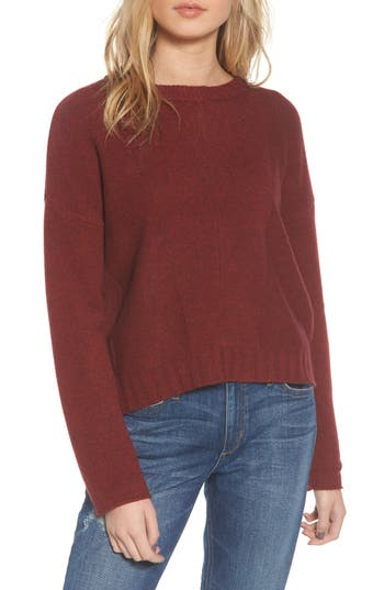 Rails Joanna Wool & Cashmere Sweater, Burgundy