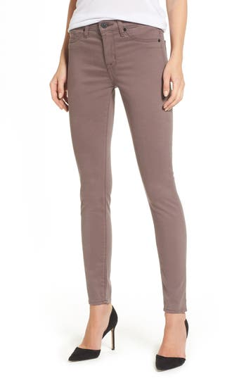Hudson Jeans Nico Ankle Skinny Pants, Brown