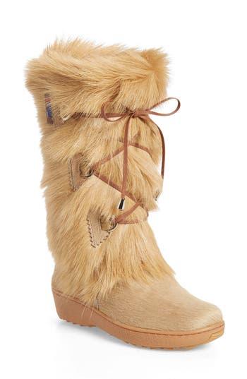 Pajar Davos Genuine Goat Fur Boot, Beige