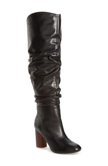 Sole Society Bali Slouchy Over The Knee Boot- Black