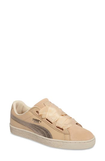 Puma Basket Heart Sneaker- Brown