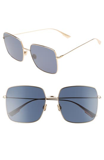 Dior Stellaire 1 5m Square Sunglasses - Gold Blue