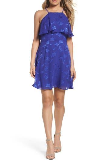 19 Cooper Jacquard Flower Popover Dress, Blue
