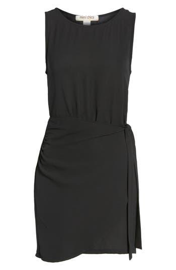 Mimi Chica Wrap Skirt Dress, Black