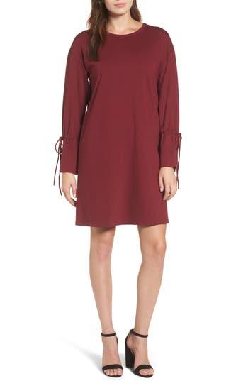 Halogen Cinch Cuff Shift Dress, Burgundy