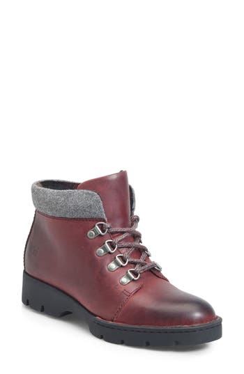 B?rn Soprics Lace-Up Bootie, Red