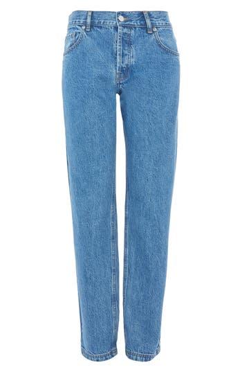 Women's Topshop Medium Wash Straight Leg Jeans