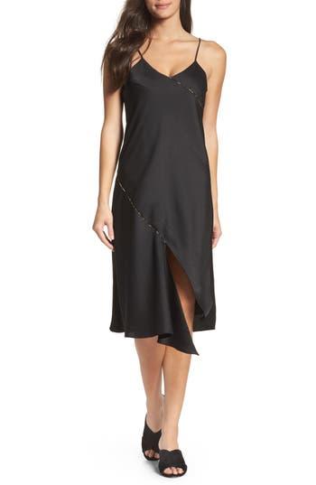 Women's Sam Edelman Midi Slipdress, Size 6 - Black