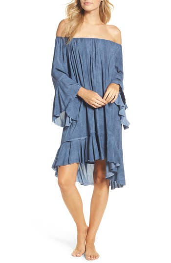 Elan Off The Shoulder Cover-Up, Size One Size - Blue