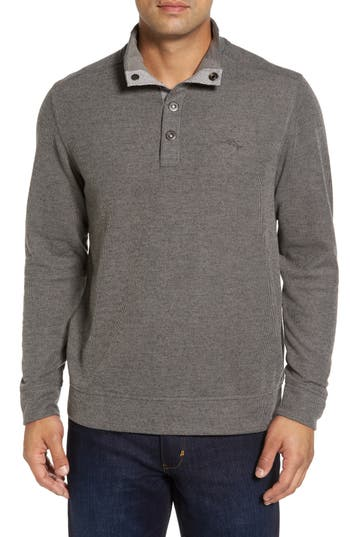 Tommy Bahama Cold Springs Snap Mock Neck Sweater