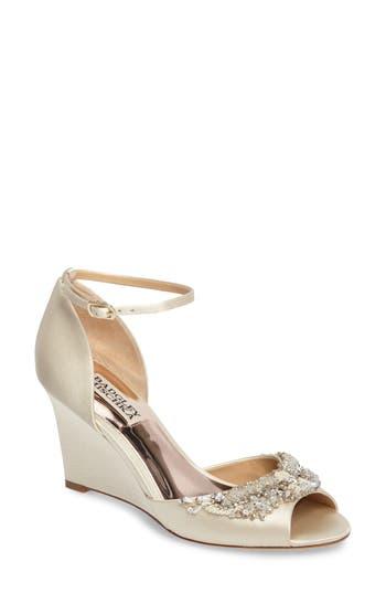 Badgley Mischka Malorie Embellished Sandal, Ivory