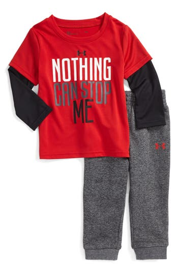 Infant Boys Under Armour Nothing Can Stop Me Layered TShirt  Sweatpants