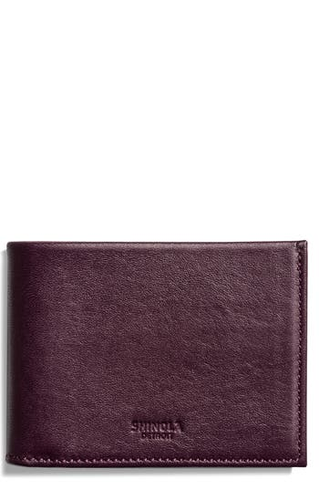 Shinola Slim Bifold Leather Wallet