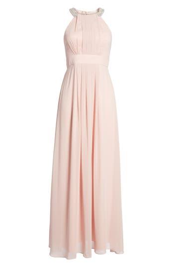 Eliza J Embellished Chiffon Gown