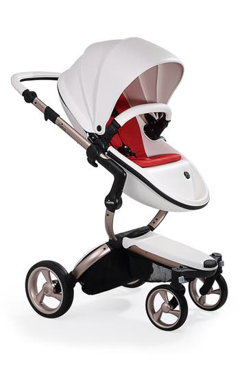 Infant Mima Xari Rose Gold Chassis Stroller With Reversible Reclining Seat  Carrycot