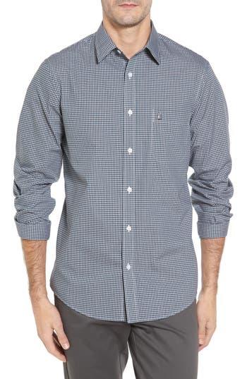Big & Tall Nordstrom Shop Smartcare(TM) Regular Fit Plaid Sport Shirt - Black