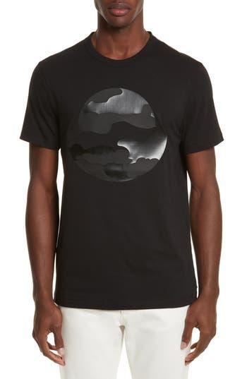 Men's Moncler Black Silhouette Graphic T-Shirt